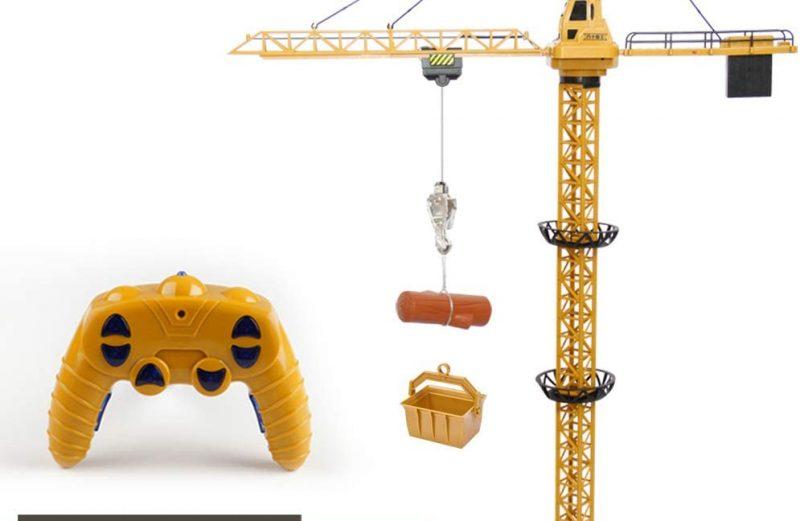 Mini Tudou 50.4 inch Tall 2.4GHz Remote Control Tower Crane, 6 Channel Radio Control Construction RC Crane Toy